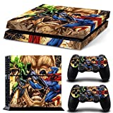 FreeStickers PS4 Console Designer Protective Vinyl Skin Decal Cover for Sony PlayStation 4 & Remote DualShock 4 Wireless Controller Stickers Skin - Batman VS Superman cartoon [video game] by Free sticker [並行輸入品]