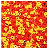 LEGO Technic NEW 100 pcs YELLOW RED BUSH Half Bushing Lot pack 1/2 Cross Connector Part Piece 4265c 3713 robot motor