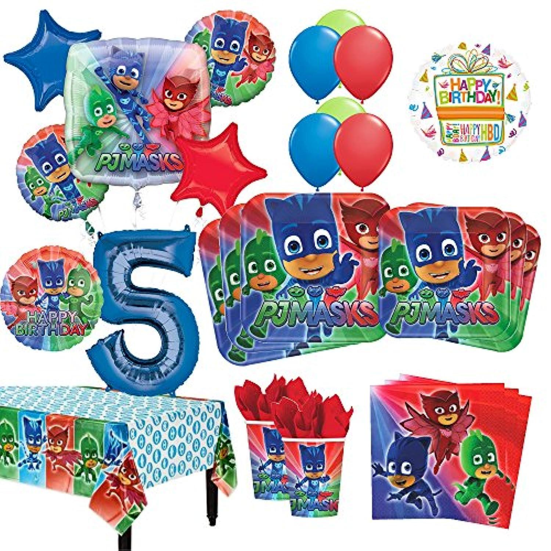 PJマスク5th BirthdayパーティーSupplies 8ゲストキットとバルーンブーケデコレーション