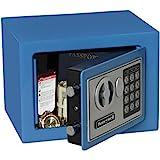 Honeywell Safes & Door Locks 5005B HONEYWELL-5005B Steel Security Safe with Digital Lock, 0.17-Cubic Feet, Blue, 0.17 Cubic F