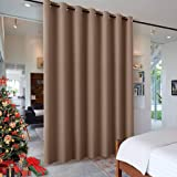 RYB HOME Room Devider Blackout Curtains for Patio Door, Portable Sliding Glass Door Drapes Sunlight Proof Noise Reducing for