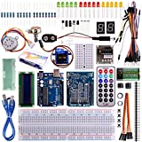 Kuman Arduinoに適用 初心者 電子工作 実験 キット 32個 R3ボード+サーボモーター+多機能センサー Arduino電子工作入門キット 互換キット K11