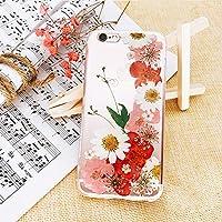 THINKER 手作りいちご 果物の押し花iPhone ケース かわいい (iPhone 7/8, 26)