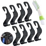 8 Pack Car Vehicle Back Seat Headrest Hook Hanger, SENHAI Strong Durable Organizer Storage Holder for Grocery Bag Purse Handb
