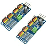2 Pack PCA9685 16 CH 12Bit PWM Servo Motor Driver Board Controller IIC Interface for Arduino Raspberry Pi Zero/Zero W/Zero WH