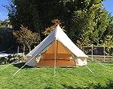 ベルテント 4m コットン 100% [6人用] Bell Tent グランピング 2016年モデル roomin(ルーミン) (ベージュ, 4m)