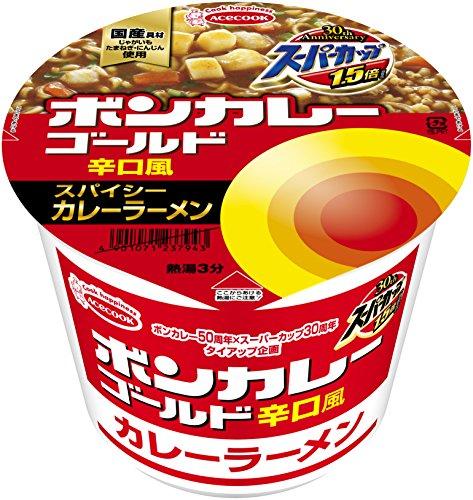 【カレー麺】エースコック ボンカレーゴールド 辛口風 カレーラーメン