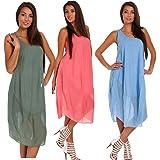 Phanindra Women Summer Dress Loose Sleeveless Irregular Mini Dress Plus Size Beach Dress