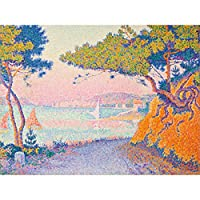 Paul Signac Golfe Juan Landscape Painting Large XL Wall Art Canvas Print ポール風景ペインティング壁