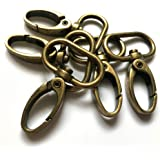 """15 Pcs 1"""" Inside Diameter Oval Ring Lobster Clasp Claw Swivel for Strap Push Gate Lobster Clasps Hooks Swivel Snap Fashion Cl"""