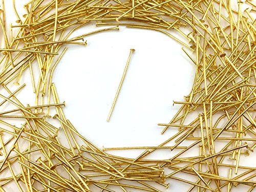 Tピン ゴールド 3.0cm 100本 金具 アクセサリーパーツ ハンドメイド 材料 パーツ
