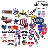 独立記念日写真小道具 40個 アメリカ愛国パーティー独立記念日 記念日の写真ブース小道具