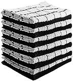 Utopia Towels - キッチンクロス (12パック, 6ブラックと6ホワイト) 純粋な綿 洗えるタオル