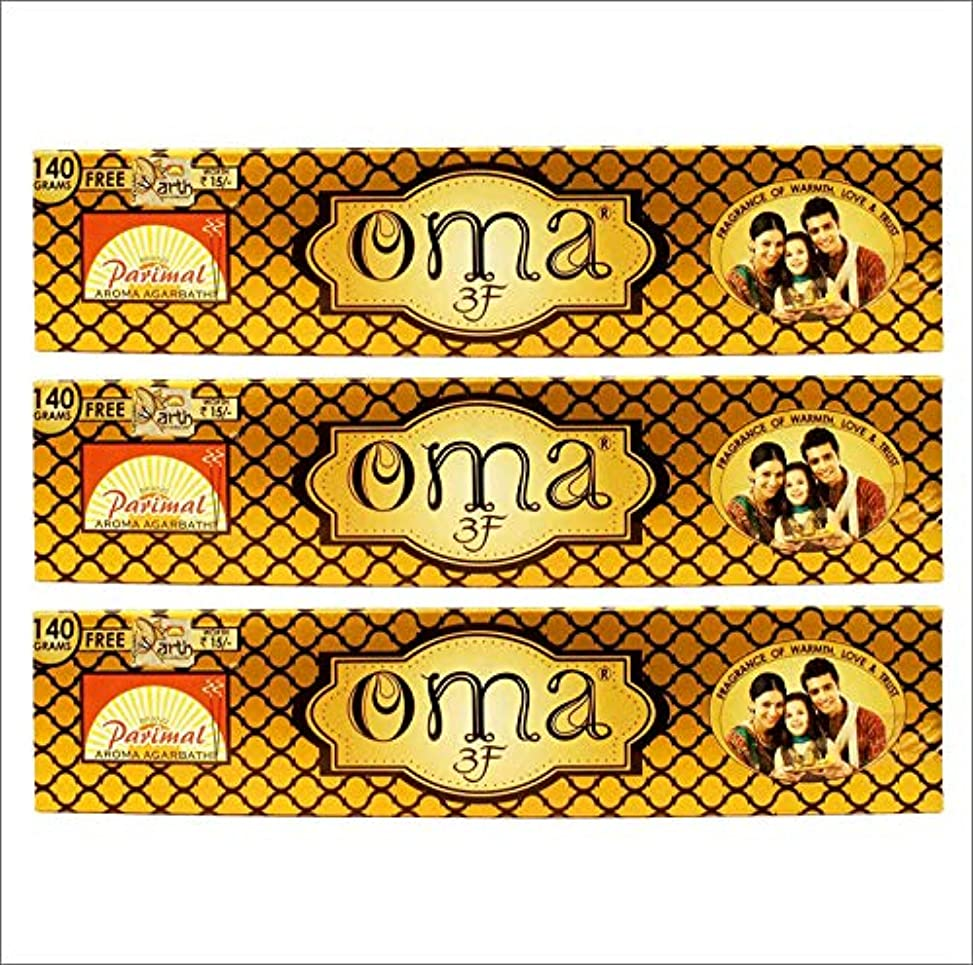 肺勇気脅威Parimal OMA 3F Incense Sticks