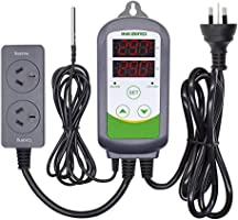 Inkbird ITC-308 AU Plug Pre-Wired Digital Temperature Controller Dual Stage Heat Cool Controller for Beer Brewing...
