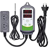 Inkbird ITC308 Digital Wired Temperature Controller AU Plug Dual Stage Heat Cool Controller for Beer Brewing Homebrew Aquaiur