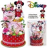 ディズニー おむつケーキ 出産祝いに大好評 ミニー 女の子 赤ちゃん必需品を詰め込み パンパース 57枚 豪華3段 DK3029S