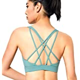 Strappy Sports Bras for Women Comfy Workout Crop Tank Criss Cross Back Yoga Tops