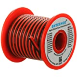 BNTECHGO 18 Gauge Flexible 2 Conductor Parallel Silicone Wire Spool Red Black High Resistant 200 deg C 600V for Single Color