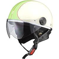 リード工業(LEAD) バイク用ハーフヘルメット O-ONE(オワン) アイボリー/グリーン -