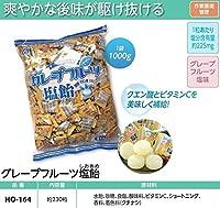 爽やかな後味が駆け抜ける! 作業環境管理用品 グレープフルーツ塩飴  熱中症対策用飴  1kg(約230粒入り) HO-164