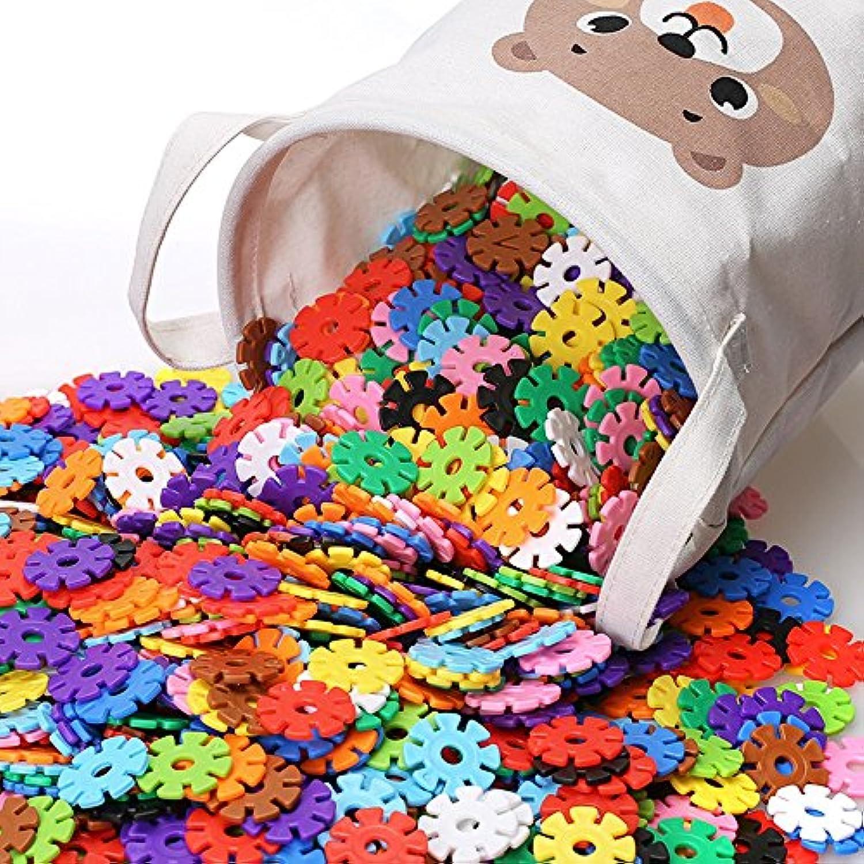 Siyushop 500ピース カラー木製ブロックセット 子供用 丈夫なキャリーケース付き (カラー:500)