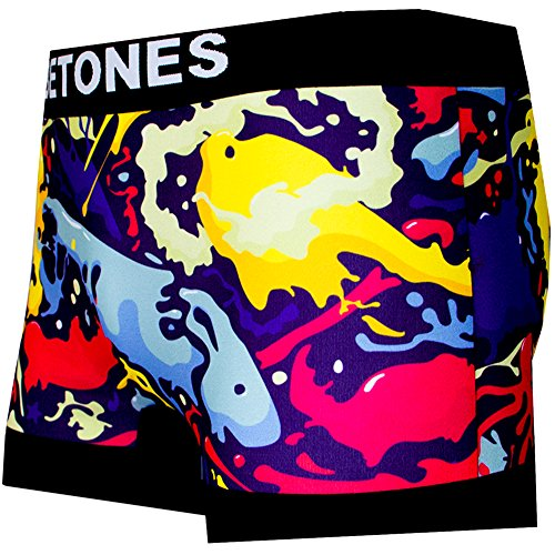 BETONES (ビトーンズ) メンズ ボクサーパンツ INK dwearsステッカー入り ローライズ アンダーウェア ボーダー ブランド 男性 下着 誕生日 プレゼント <インク フリーサイズ>