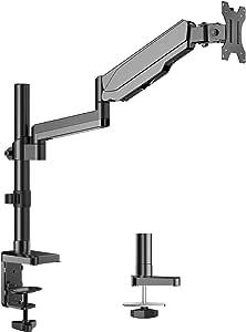 HUANUO PC モニター アーム 液晶ディスプレイ アーム ガススプリング式 ガス圧式 17~32インチ対応 耐荷重1-8kg