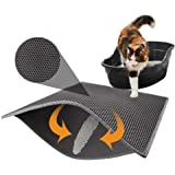 Ghuizhi Cat Litter Box Mat Litter Double-Layer Design Waterproof Urine Proof Material, Easy Clean and Floor Carpet Protection