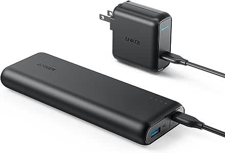 Anker PowerCore Speed 20000 PD (20100mAh 超大容量モバイルバッテリー)【PSE認証済 / 最軽量 / Power Delivery対応 / USB-C急速充電器付属】iPhone & Android対応 *2020年9月時点(ブラック)