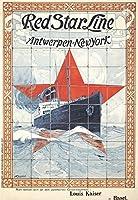 Red Star Line–Antwerpen–新しいYorkビンテージポスター(アーティスト: Cassiers、Henri )ベルギーC。1901 36 x 54 Giclee Print LANT-64612-36x54