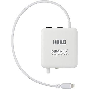 KORG iPhone/iPad用モバイルMIDI+オーディオ・インターフェイス plugKEY WH ホワイト