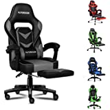 ALFORDSON Gaming Chair Racing Chair Executive Sport Office Chair with Footrest PU Leather Armrest Lumbar Cushion Home Chair (
