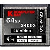 Komputerbay Professional 3400x CFast 2.0カード 64GB (最大読込 525MB/s、最大書込 475MB/s)[国内正規品] 制限付無期限保証