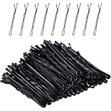 Bobby Pins, Morgles 120 pcs Black Bobby pins Hair Pins for Women Girls with Clear Box (2.2 inch)