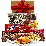 Chocolate Gift Hamper with Twix, Maltesers, Kitkat, Caramel Popcorn, Chocolate Honeycomb, Tim Tams, Party Mix