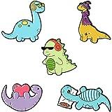 Bhuuno 5Pcs Dinosaur Enamel Pins Cartoon Pin Badges for Clothing Bags