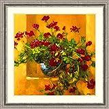 アイビーゼラニウム' Framedアートプリントby Philip Craig Size: 32 x 32 (Approx), Matted 3999025