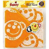 Sassyウォッシュタオル スマイリーオレンジ 袋入 SW4601 NZSA97401