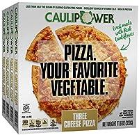 CAULIPOWER Three Cheese Cauliflower Crust Pizzas, Gluten Free, Non-GMO, Lower Carb, 11.6 Ounce, Pack of 4
