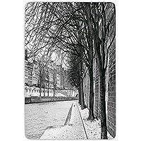 IACC バスルームバス絨毯キッチンフロアマットカーペット、黒と白の装飾、セーヌ川パリフランス雪都市冬の木、ブラックホワイトグレー、フランネルマイクロスリップノン吸収剤