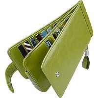 Huztencor 長財布 薄型 二つ折り メンズ レディース 磁気防止 カードケース カード26枚 収納 大容量 財布…