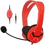 Amazonベーシック ゲーミングヘッドセット Nintendo Switch/Xbox One/PlayStation 4/PC用 レッド