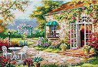 クロスステッチ刺繍キット 欧州花庭園 図柄印刷 F261
