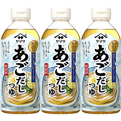 ヤマサ醤油 ぶっかけうどん専科あごだし 500ml 1セット(3本)