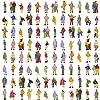 P150W-100 人形 人物 人々 人間 人間フィギュア 塗装人 情景コレクション ザ ・ 鉄道模型・ジオラマ・建築模型・電車模型に 11mm スケール:1/150 100個セット