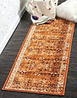 Unique Loom Imperial Collection Modern Traditional Vintage Distressed Terracotta Runner Rug (2' x 6') [並行輸入品]