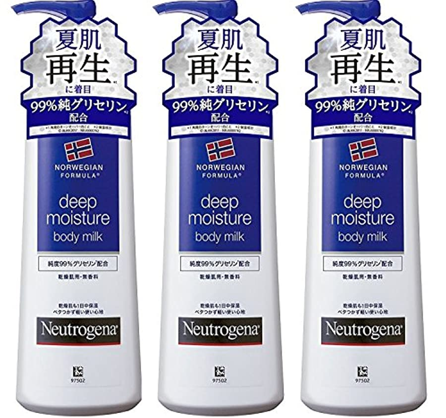 同意生き残りますNeutrogena(ニュートロジーナ) ノルウェーフォーミュラ ディープモイスチャー ボディミルク250mL×3セット