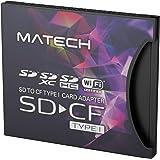MATECH CFカード アダプタ SDカードからコンパクトフラッシュカード TypeI (タイプ1) 高速変換 WiFi SD対応【国内2年保証】SD1CF1AD