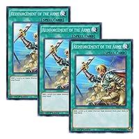 【 3枚セット 】遊戯王 英語版 SR02-EN031 Reinforcement of the Army 増援 (ノーマル) 1st Edition